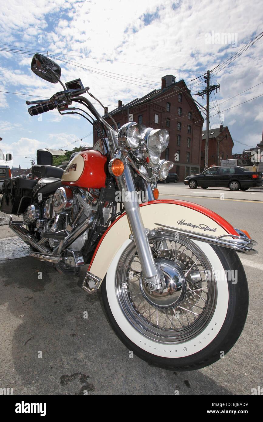 Harley Davidson Portland >> A Harley Davidson Parked On The Roadside Portland United