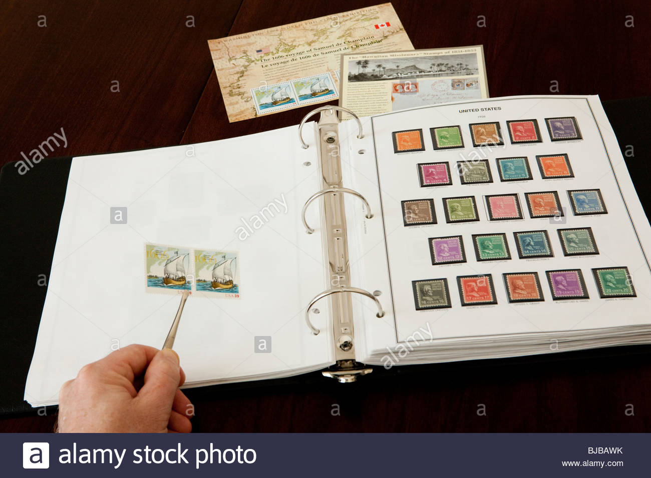 Stamp Collecting - Stock Image