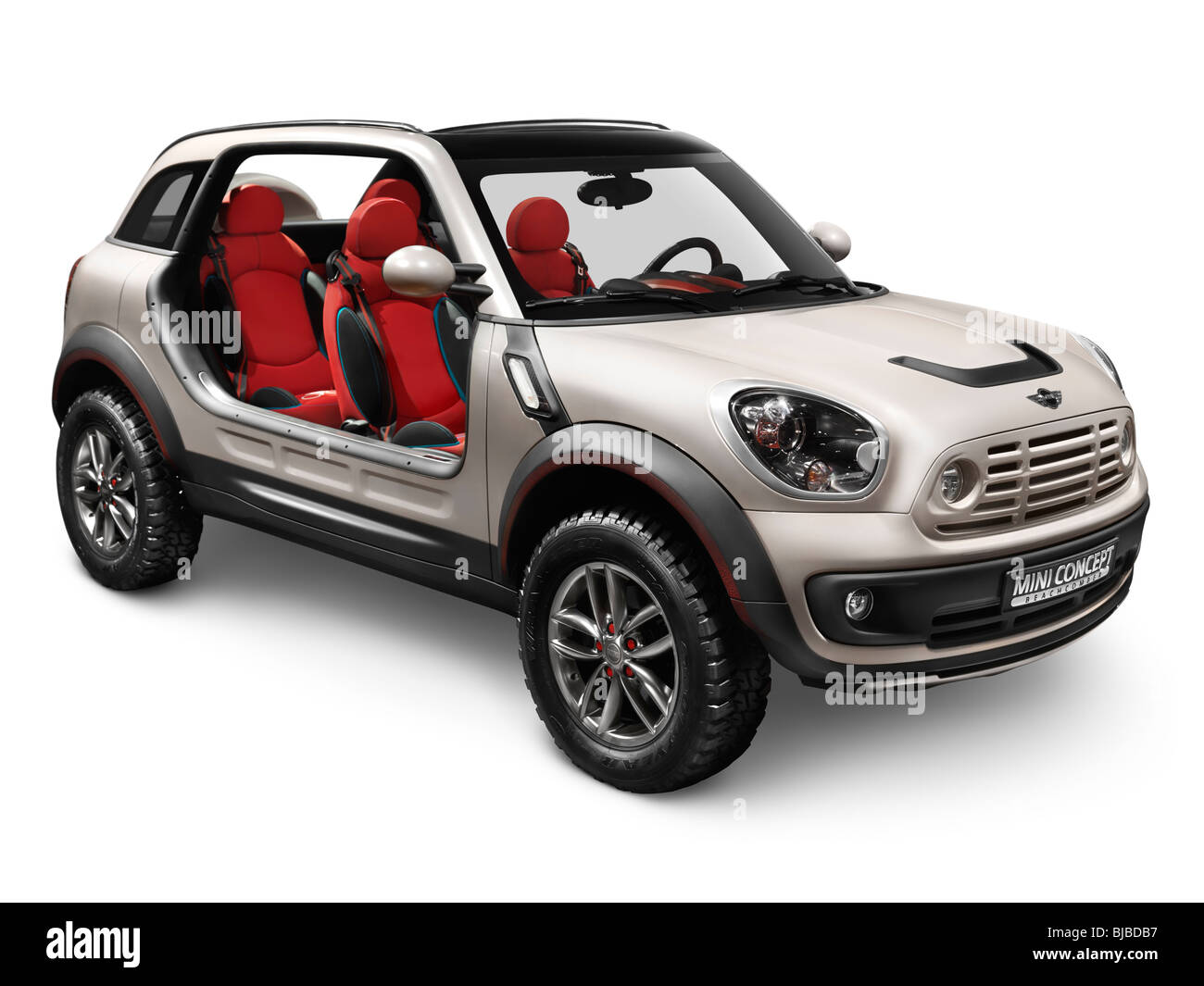2010 Mini Beachcomber Concept car without doors and roof isolated on white background with clipping path - Stock Image