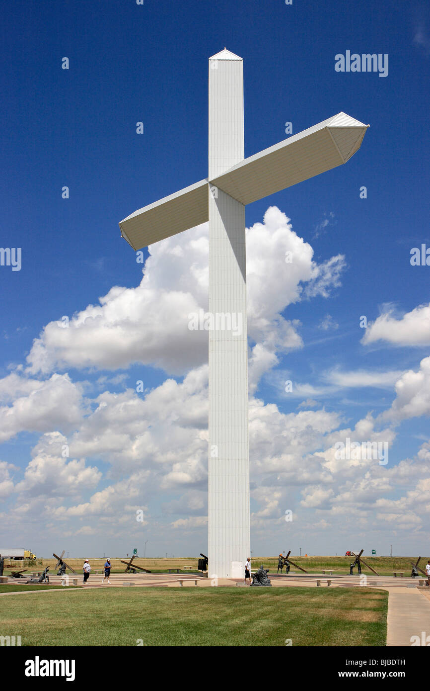 2nd Largest Cross in the Western Hemisphere, Groom, USA - Stock Image
