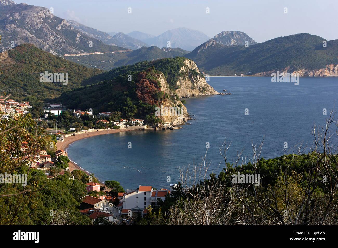 Petrovac,Adriatic coast,Montenegro - Stock Image