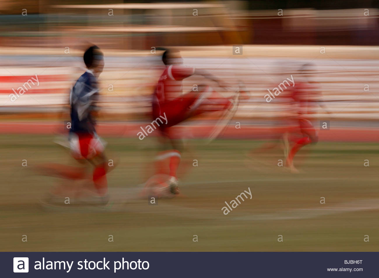 FOOTBALL MATCH IN TRIVANDRUM, KERALA - Stock Image