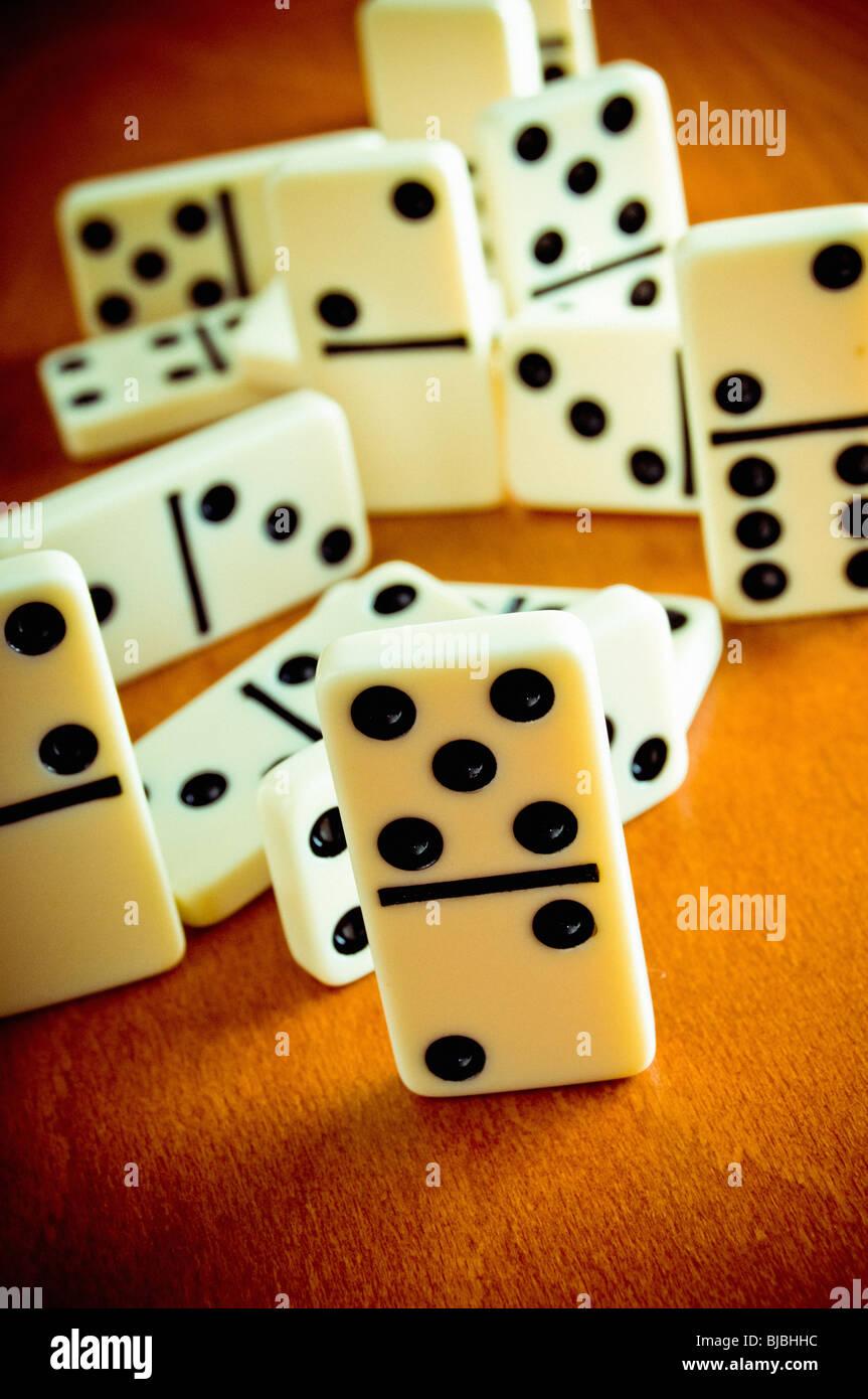 dominoes tiles - Stock Image