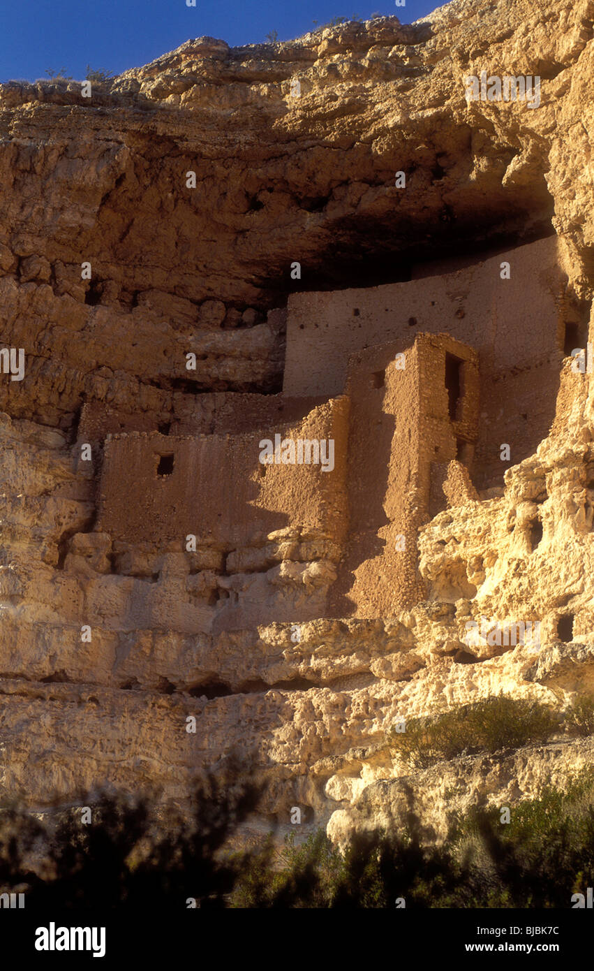 Anasazi cliff dwelling Montezuma's castle in Arizona USA - Stock Image