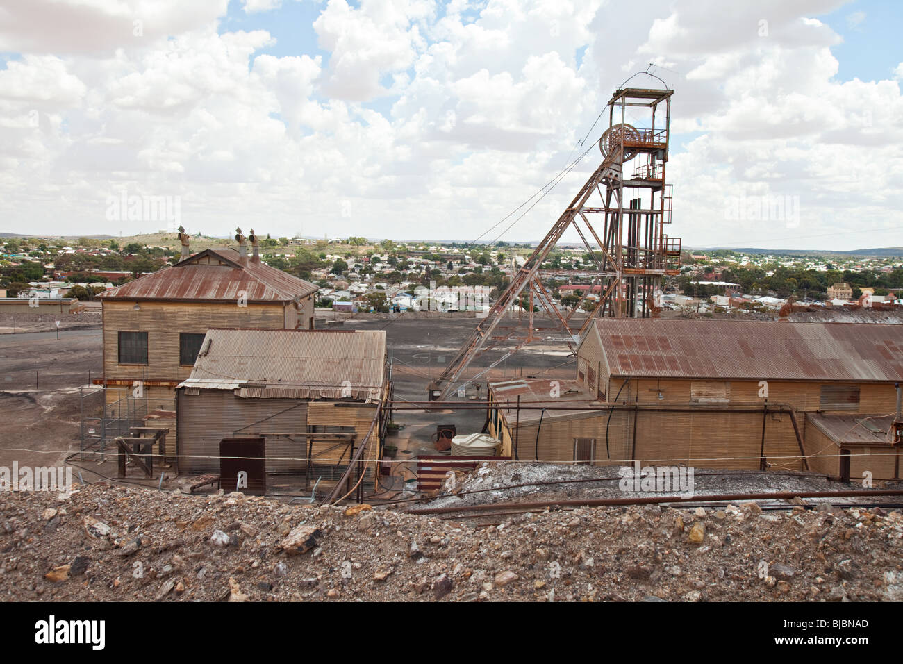 Outback Huntsville Al >> Old mine shaft in Broken Hill, NSW, Australian aoutback Stock Photo: 28532405 - Alamy