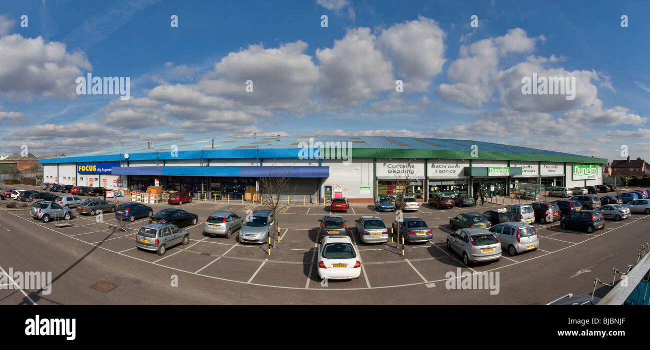 Alban Retail Park in Bedford - Stock Image