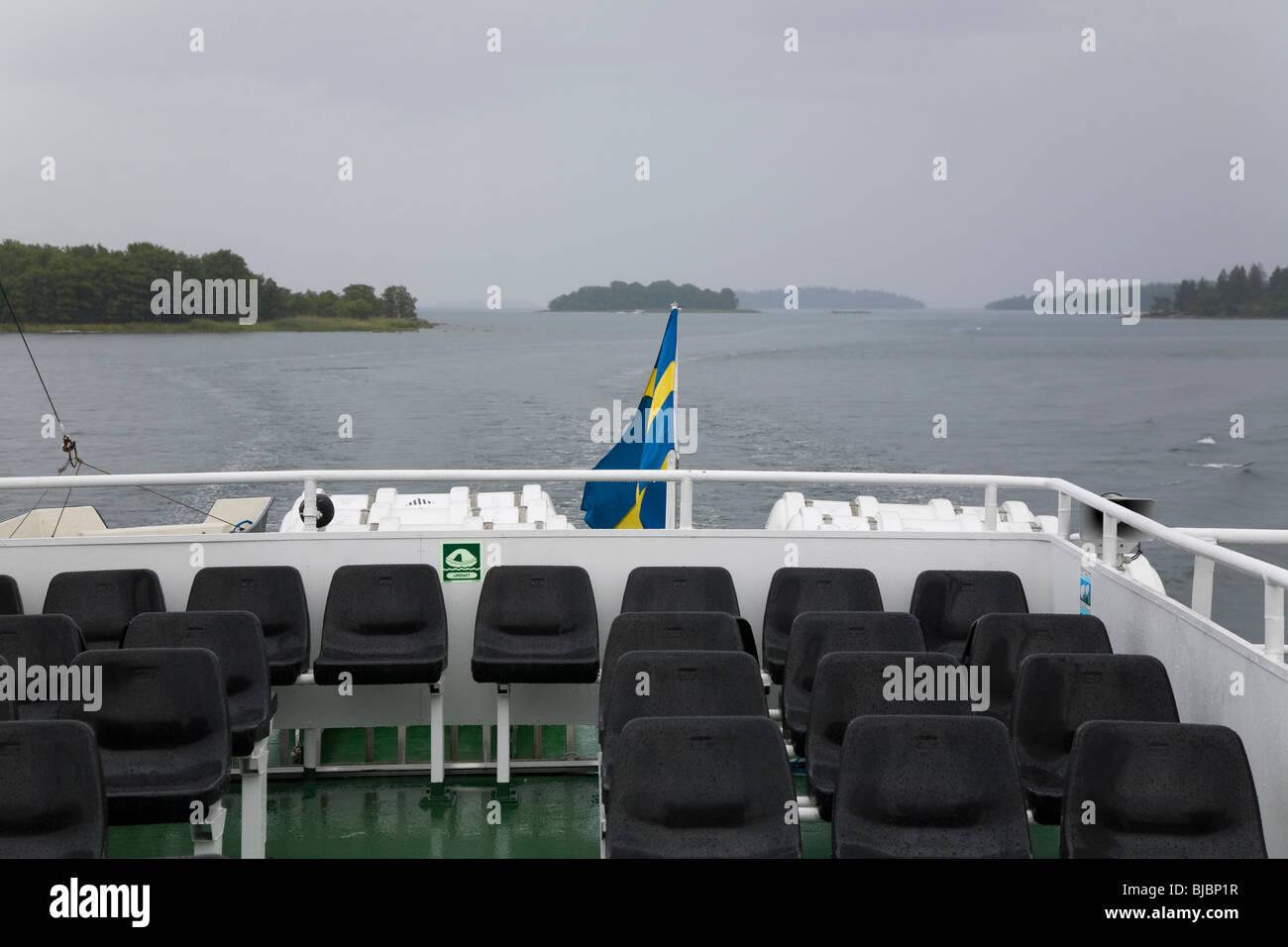 Passenger boat in the 'Archipelago of Stockholm', Sweden. - Stock Image