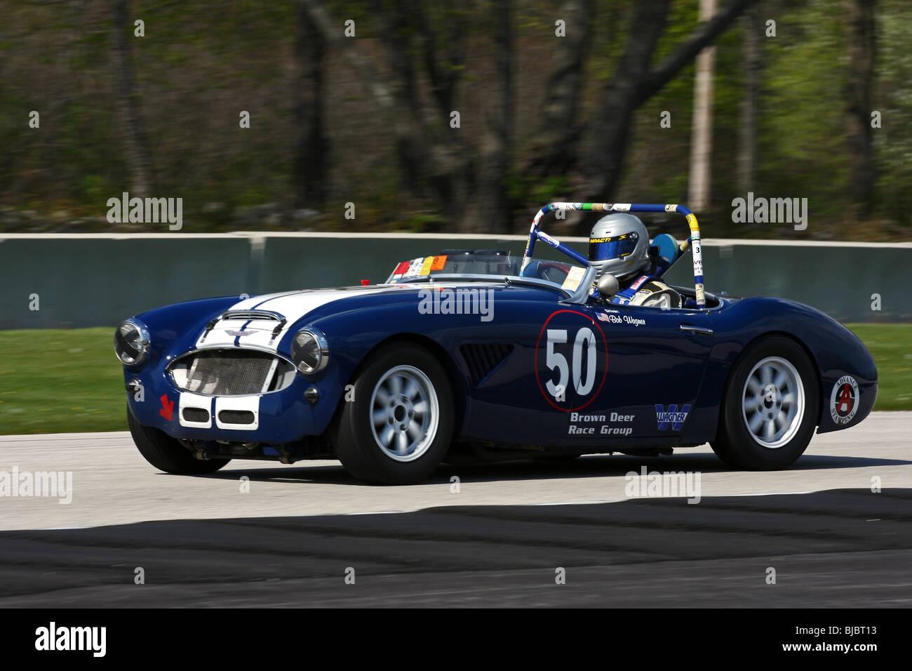 SVRA Vintage Auto Racing Road America Spring 2009 Stock Photo ...
