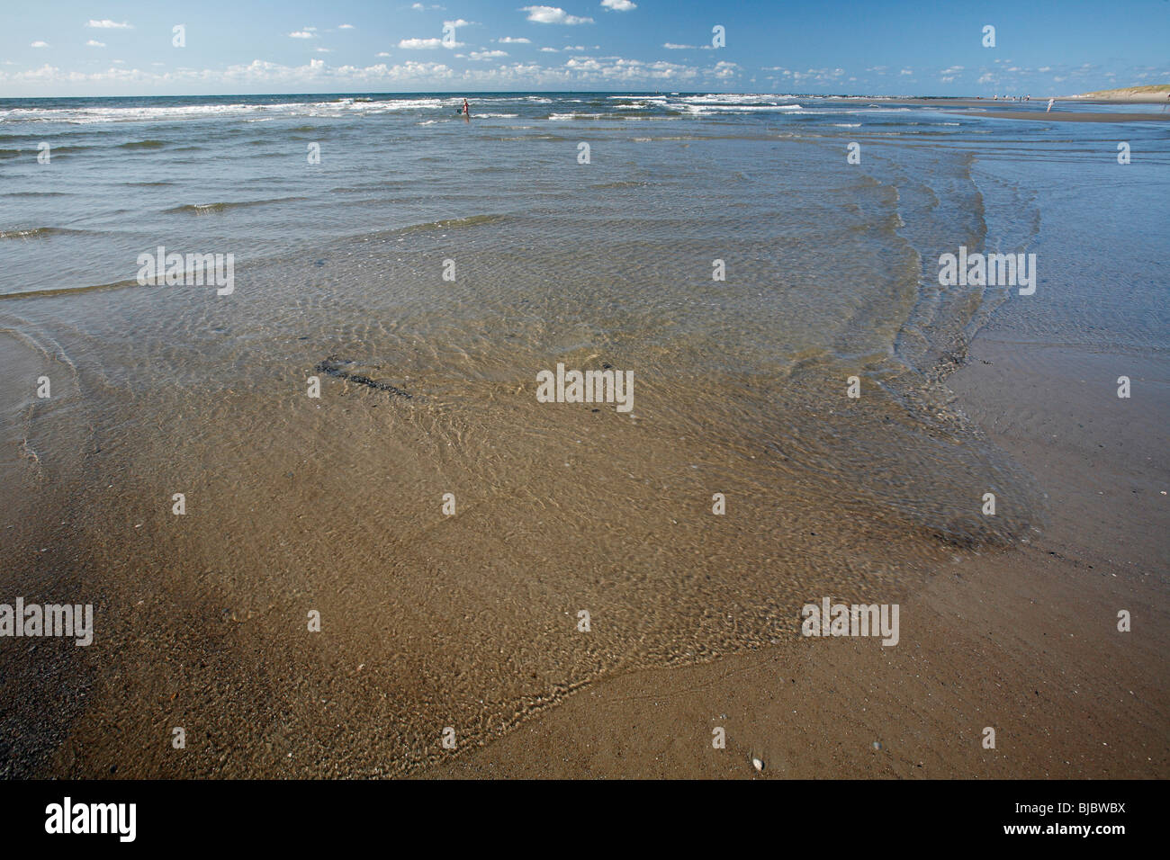 Low Tide and ripples, Texel Island, Holland - Stock Image