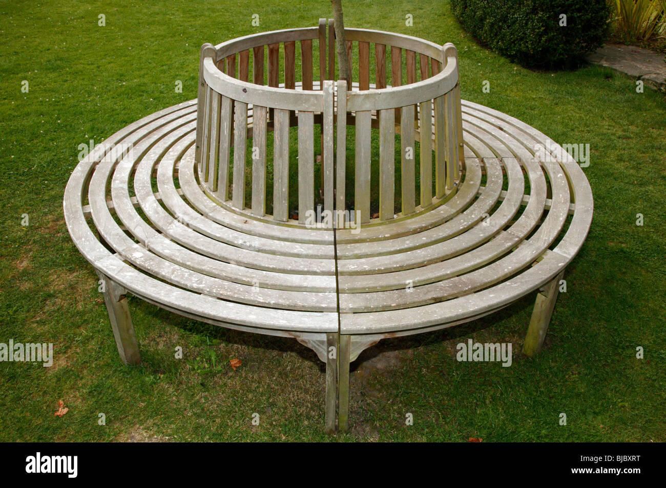 Terrific Circular Wooden Bench Seat In The Garden Of The Salutation Cjindustries Chair Design For Home Cjindustriesco