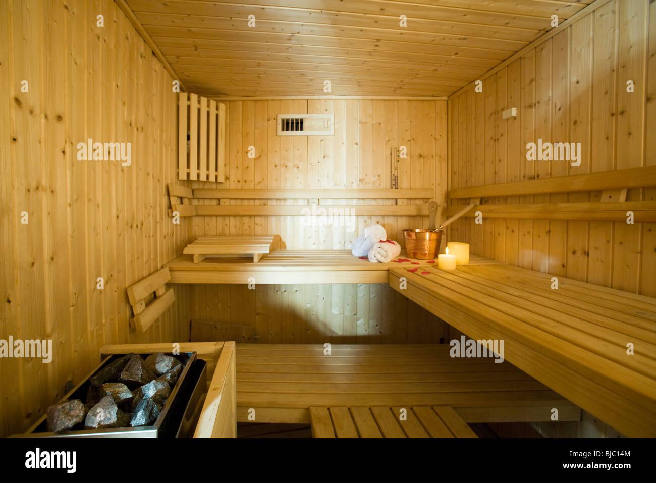 Swedish sauna - Stock Image