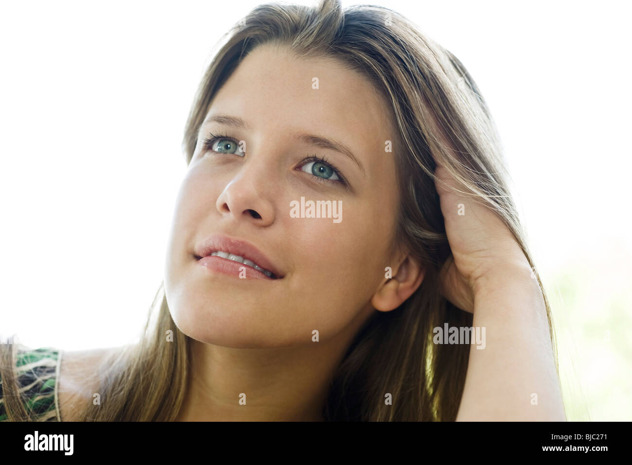 Young woman, portrait - Stock Image