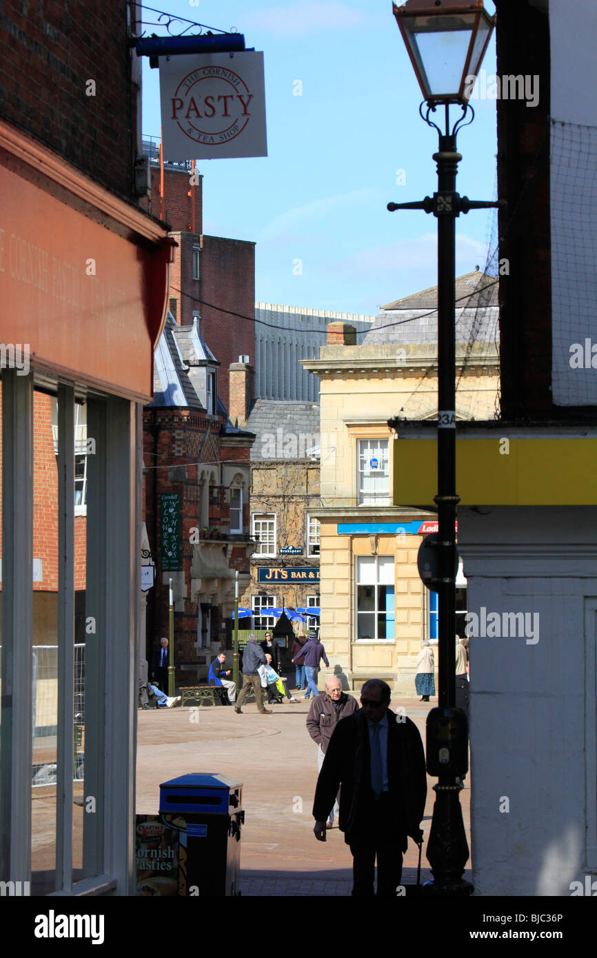 banbury town centre high street oxfordshire england uk gb - Stock Image