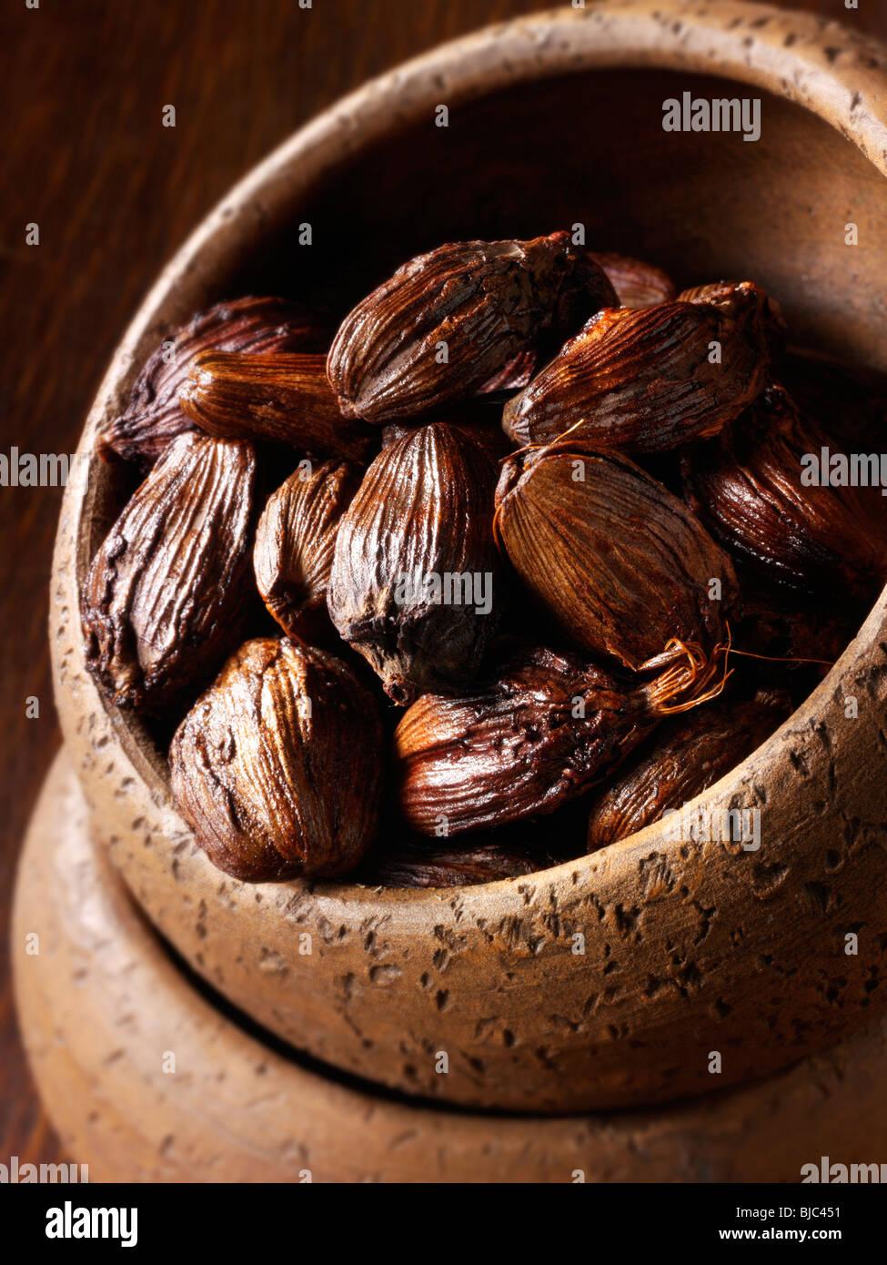 Black cardamom stock photos Stock Photo
