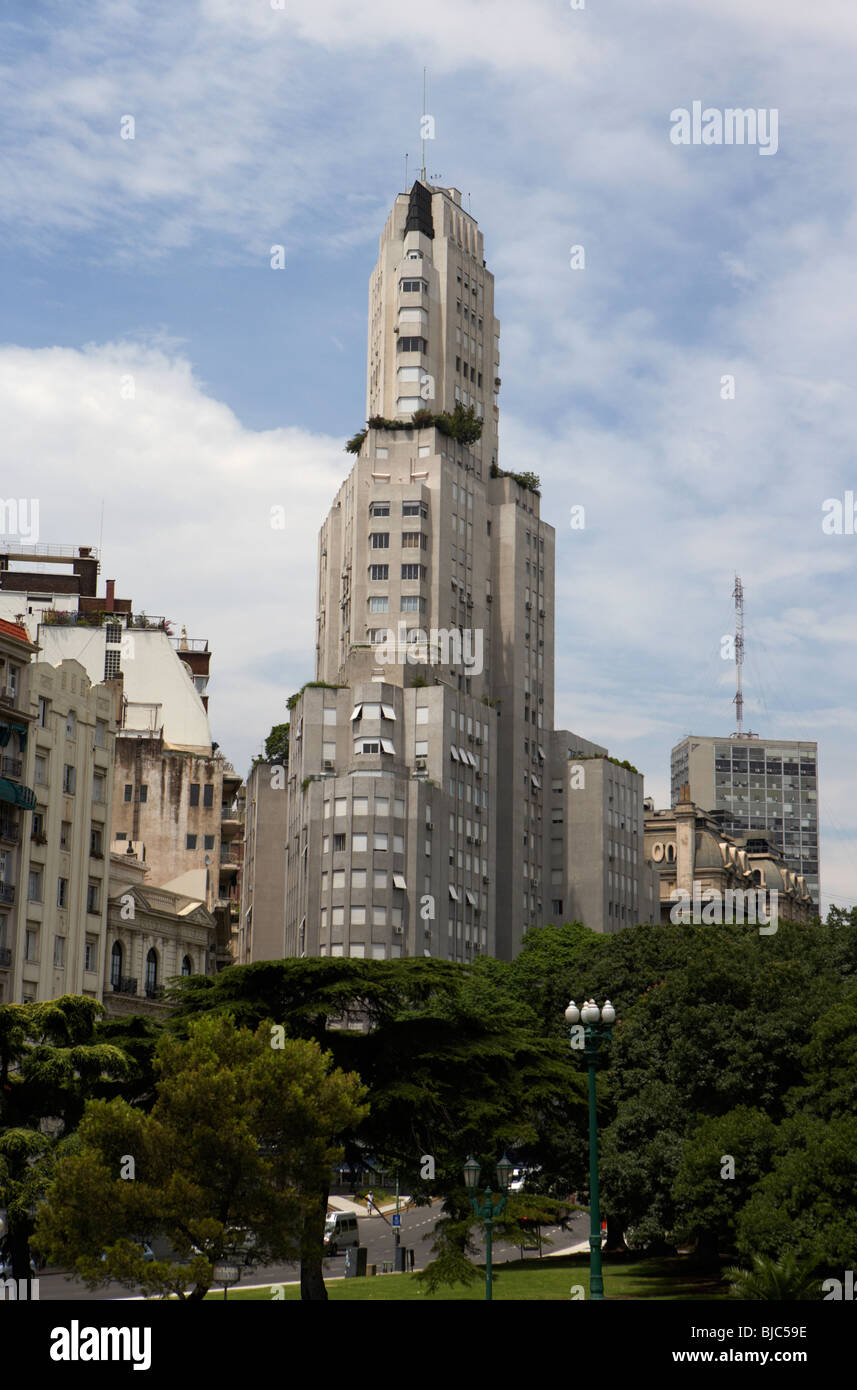 the kavanagh building the first skyscraper in capital federal buenos aires republic of argentina south america - Stock Image
