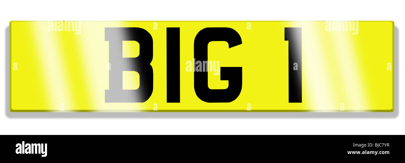 illustration of cherished registration plate Stock Photo