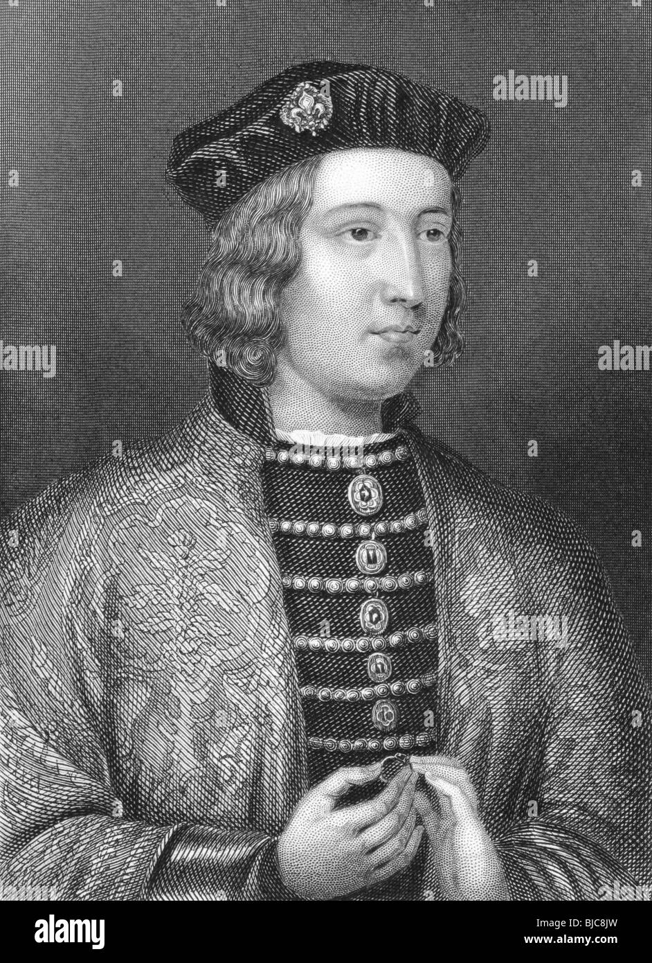 Edward IV (1442-1483) on engraving from the 1800s. - Stock Image