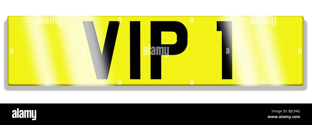 illustration of cherished registration plate Stock Photo