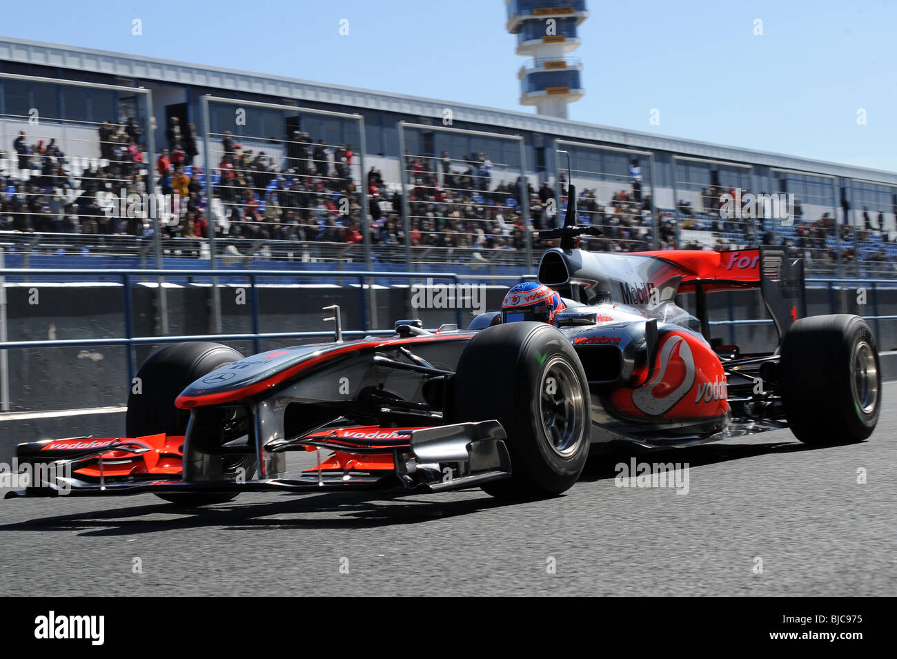 F1 formula 1 mclaren jenson button - Stock Image