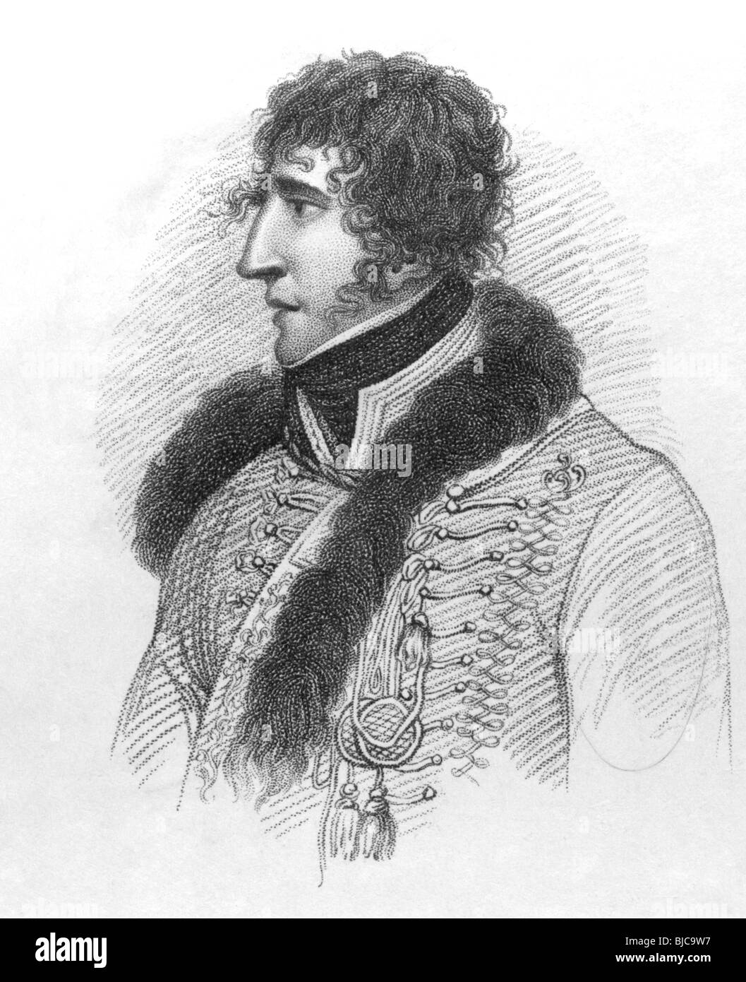 General Duroc (1772-1813) on engraving from the 1800s. French general associated with Napoleon. - Stock Image