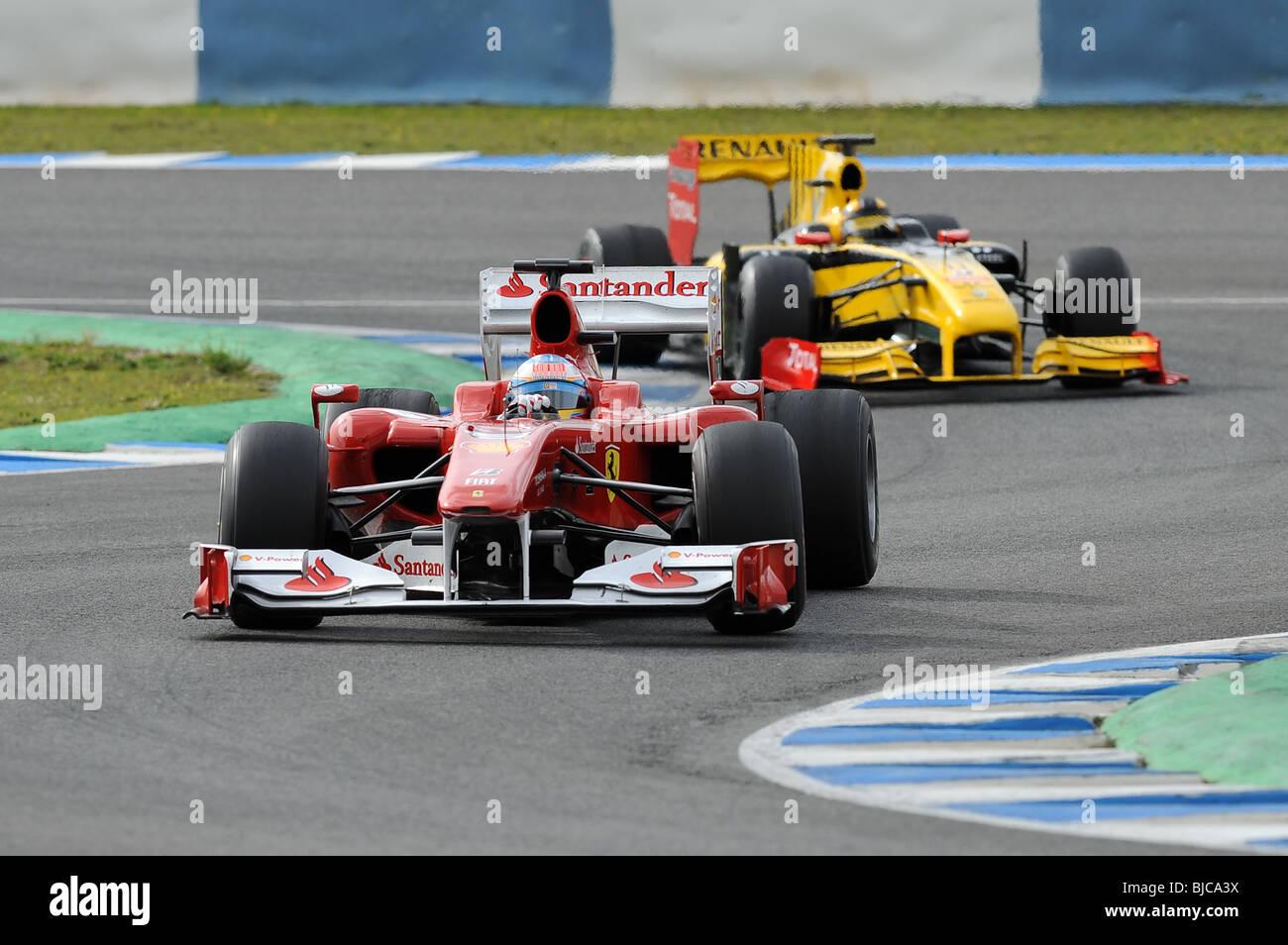 F1 formula 1 Renault ferrari fernando alonso - Stock Image