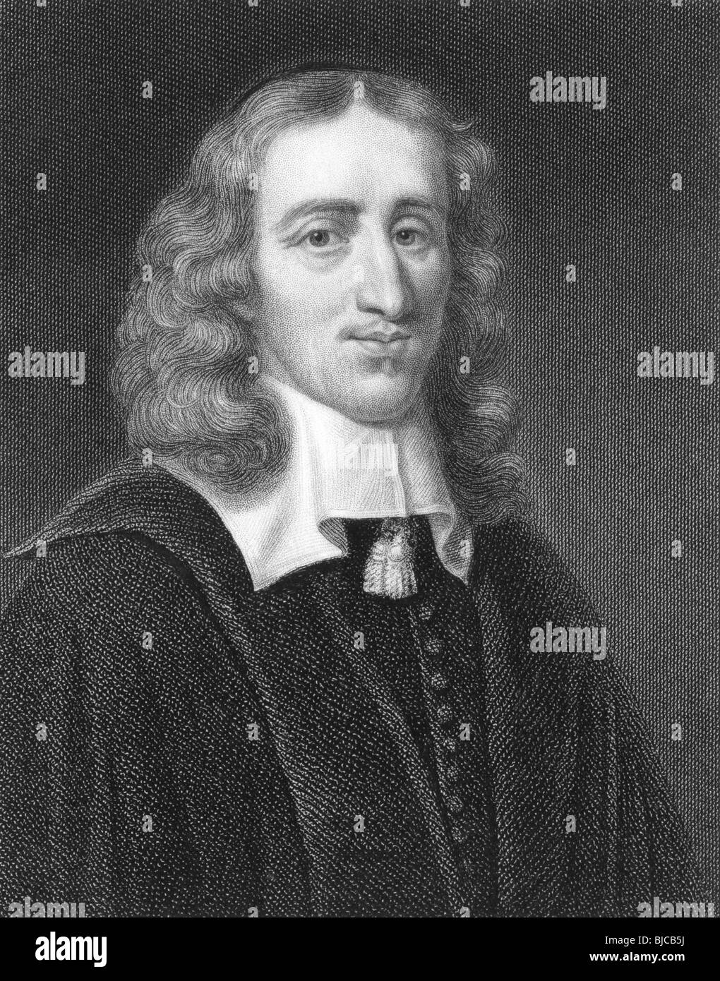 Johan de Witt (1625-1672) on engraving from the 1800s.Key figure in Dutch politics. - Stock Image