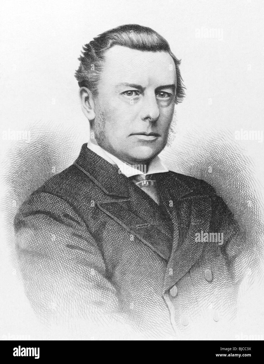 Joseph Chamberlain (1836-1914) on engraving from the 1800s. Influential British businessman, politician and statesman. - Stock Image