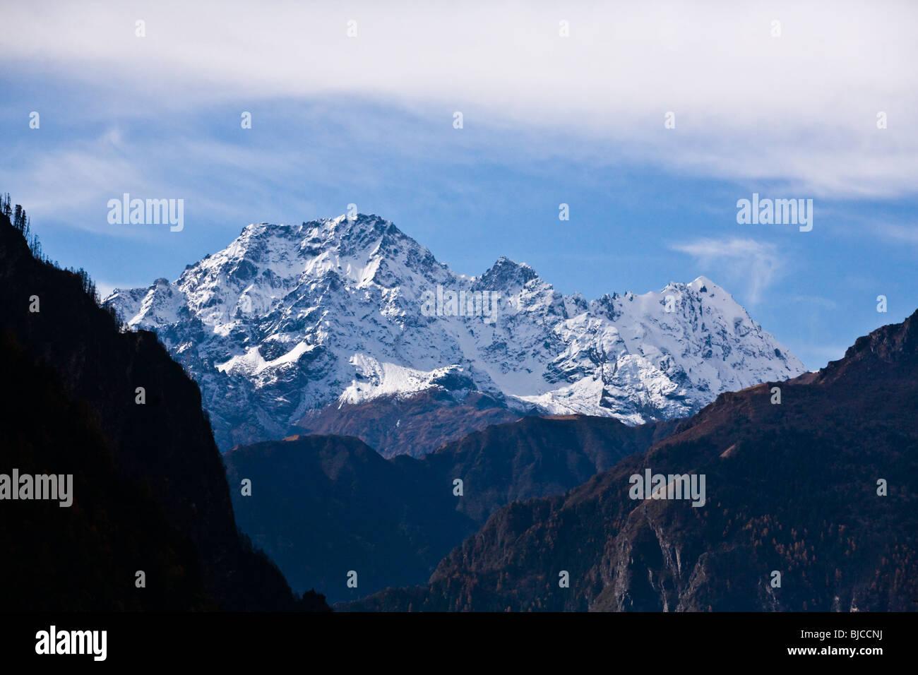 BODHA HIMAL as seen from NUPRI - AROUND MANASLU TREK, NEPAL - Stock Image