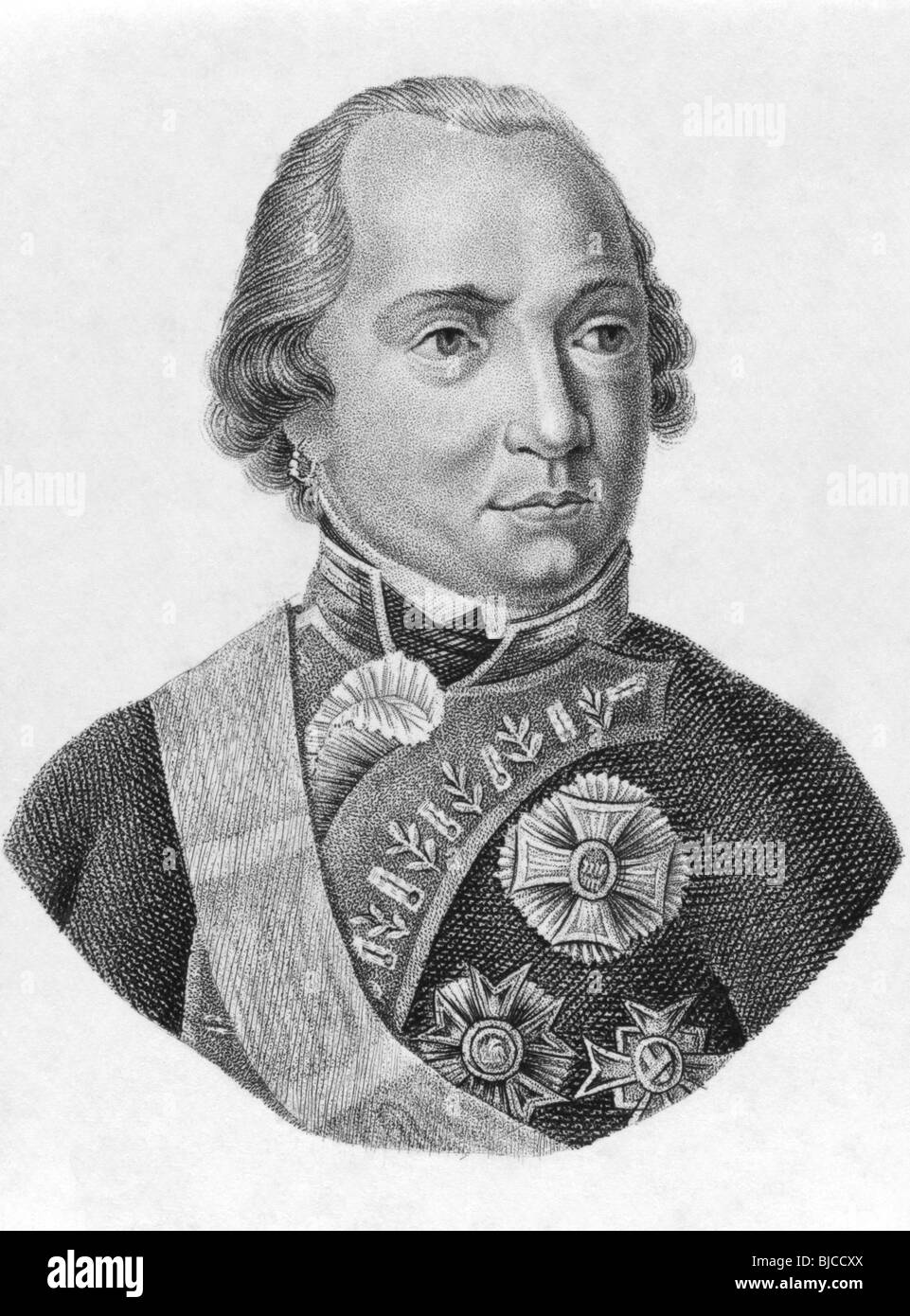 Maximilian I Joseph of Bavaria (1756-1825) on engraving from the 1800s. King of Bavaria during 1806-1825. - Stock Image