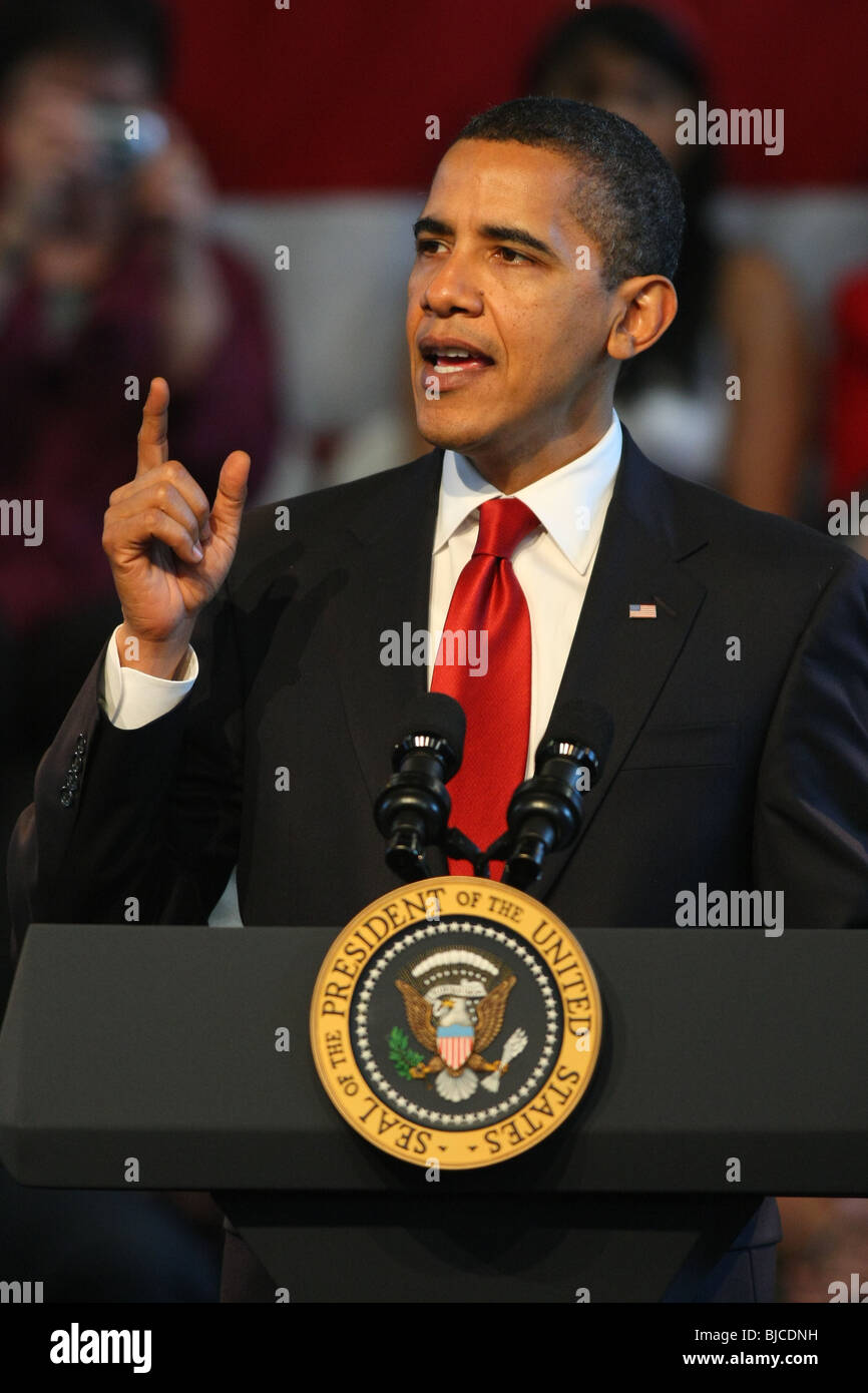 BARACK OBAMA PRESIDENT OF U.S.A. 19 March 2009 DOWNTOWN LOS ANGELES CA USA - Stock Image