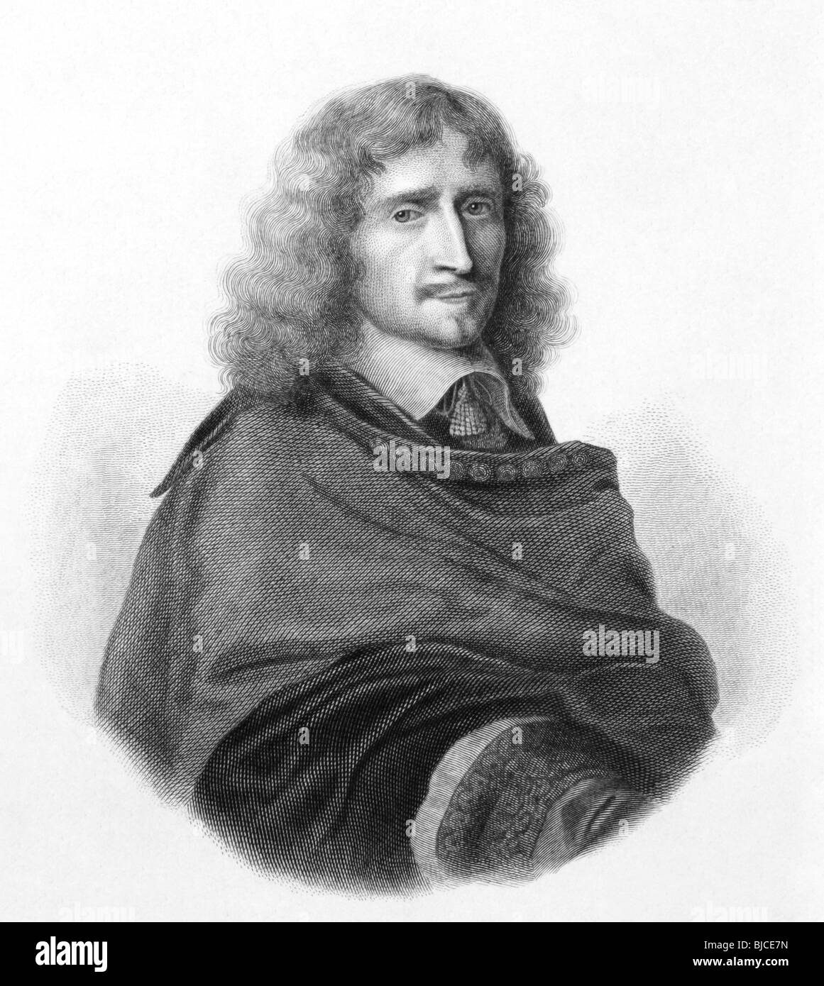 Richard Browne (1610-1669) on engraving from 1800s. Major-General in the English Parliamentary army during the English - Stock Image