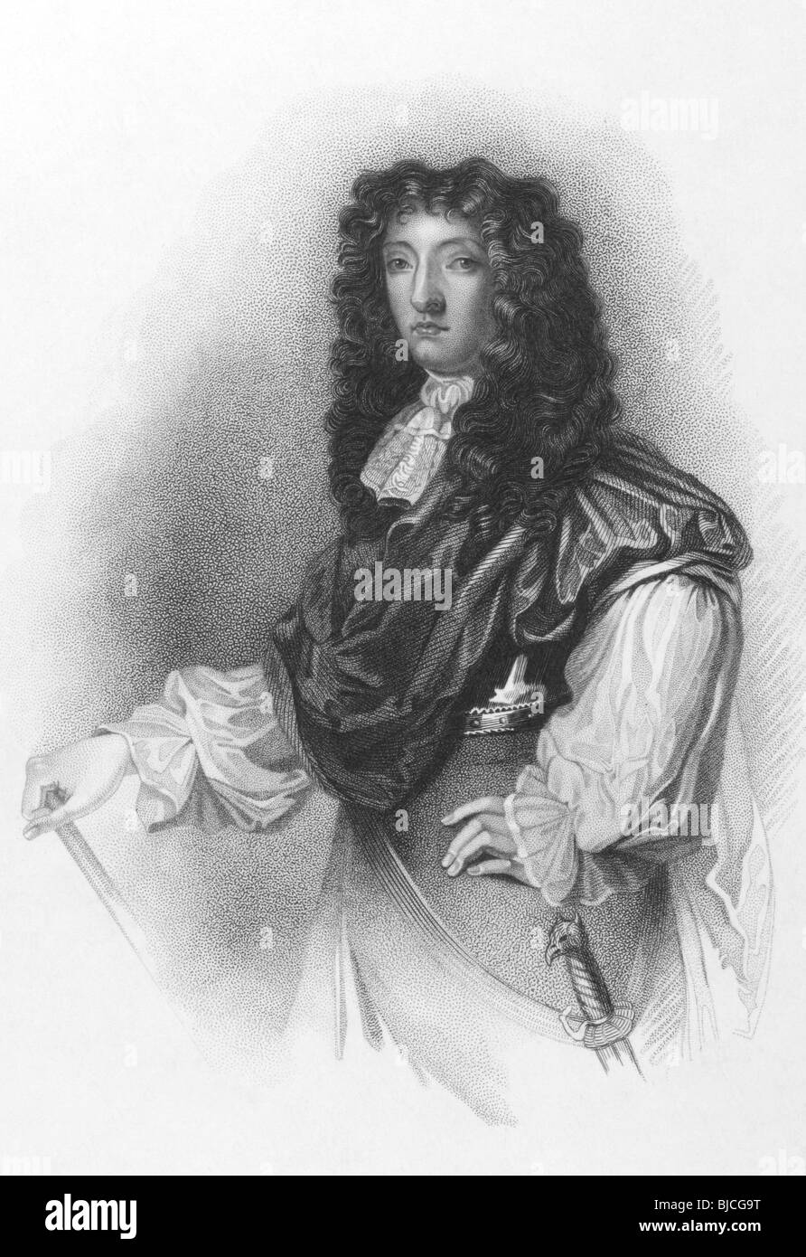 John Graham, 1st Viscount of Dundee (1648-1689) on engraving from the 1800s. - Stock Image