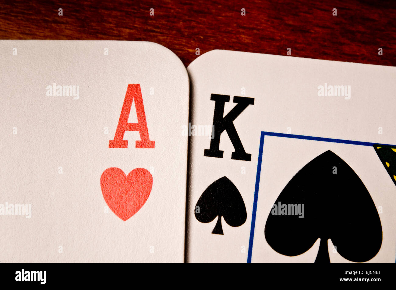 ace and king playing card - Stock Image