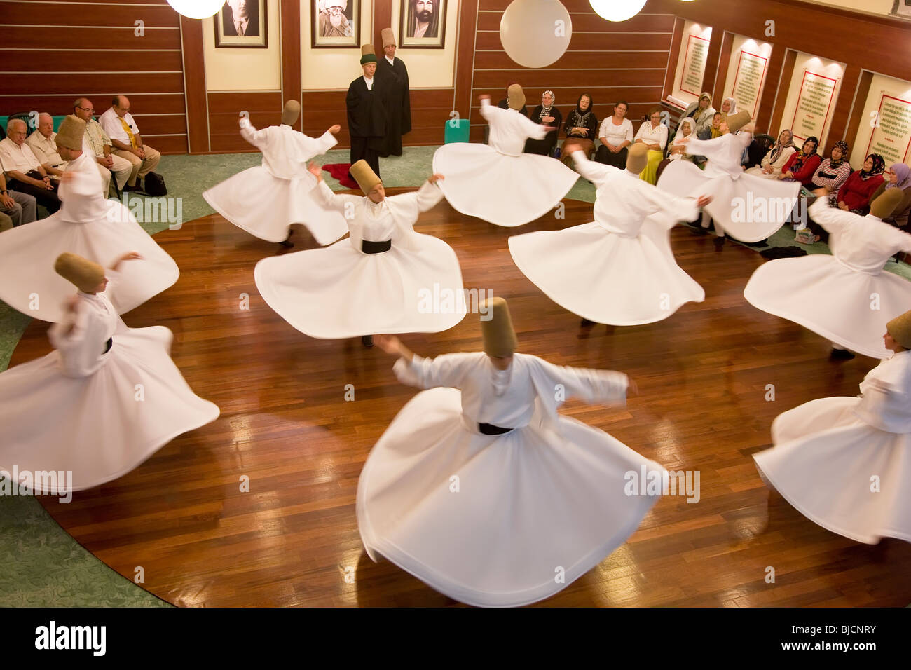 Whirling Dervishes, Istanbul. Turkey - Stock Image