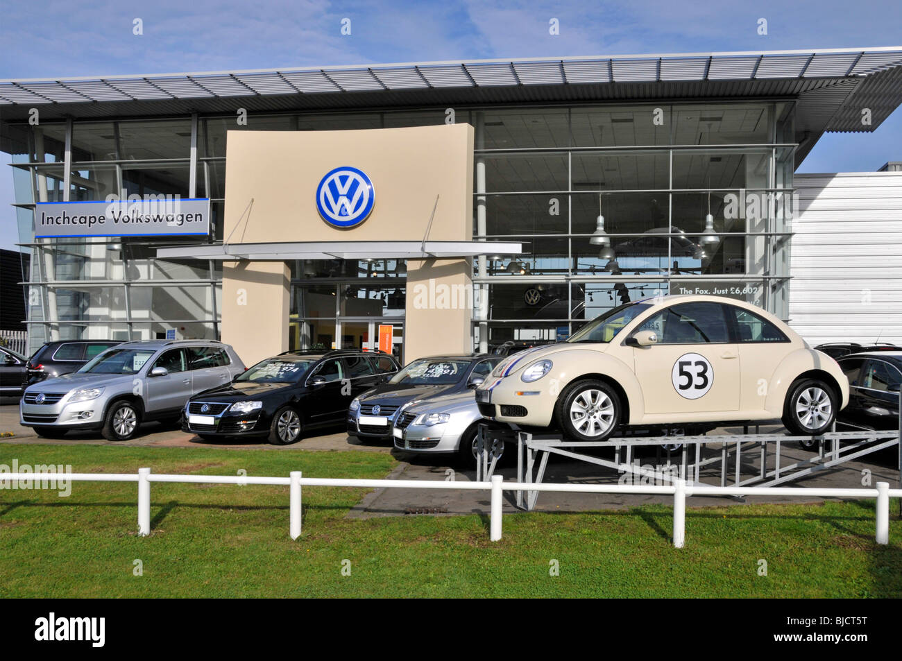 Inchcape Volkswagen car showrooms - Stock Image