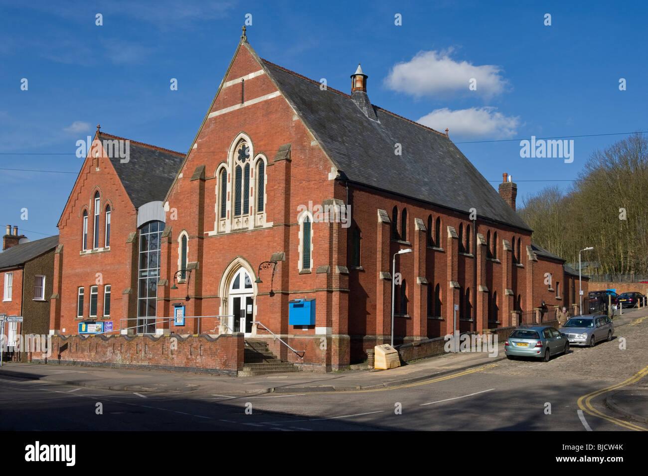 Trinity Baptist church a traditional red brick built church, an ecclesiastical church building  in Chesham Buckinghamshire - Stock Image