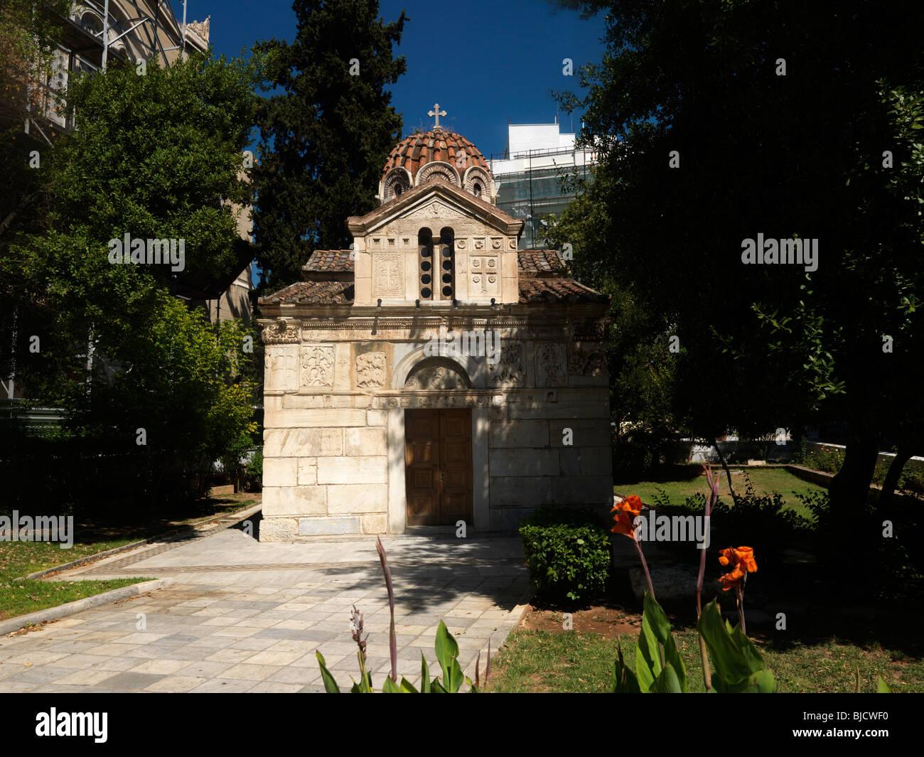 Athens Greece Panagia Gorgoepikoos (The Madonna Who Swiftly Hears) Church - Stock Image