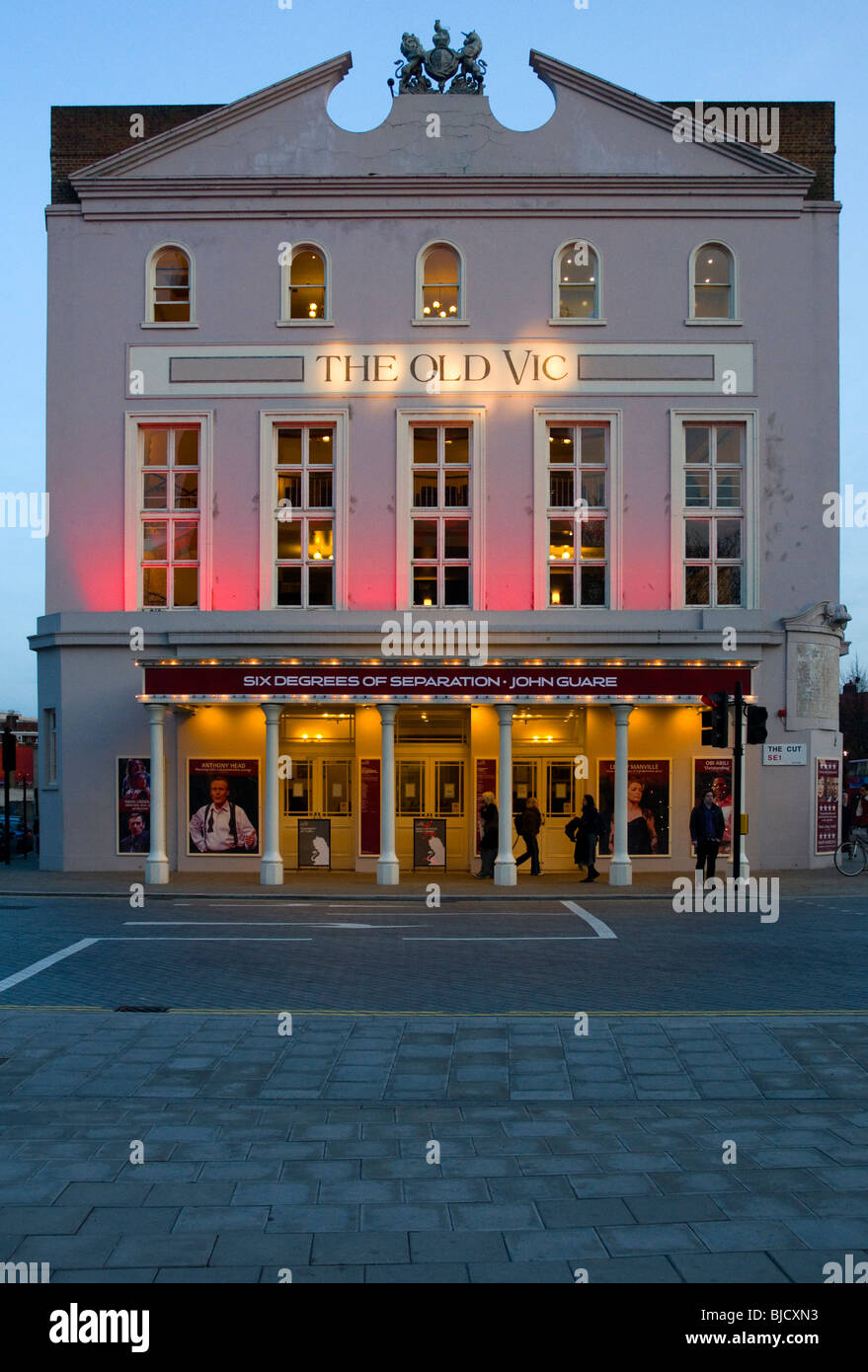 The Old Vic Theatre situated on The Cut near Waterloo, London - Stock Image