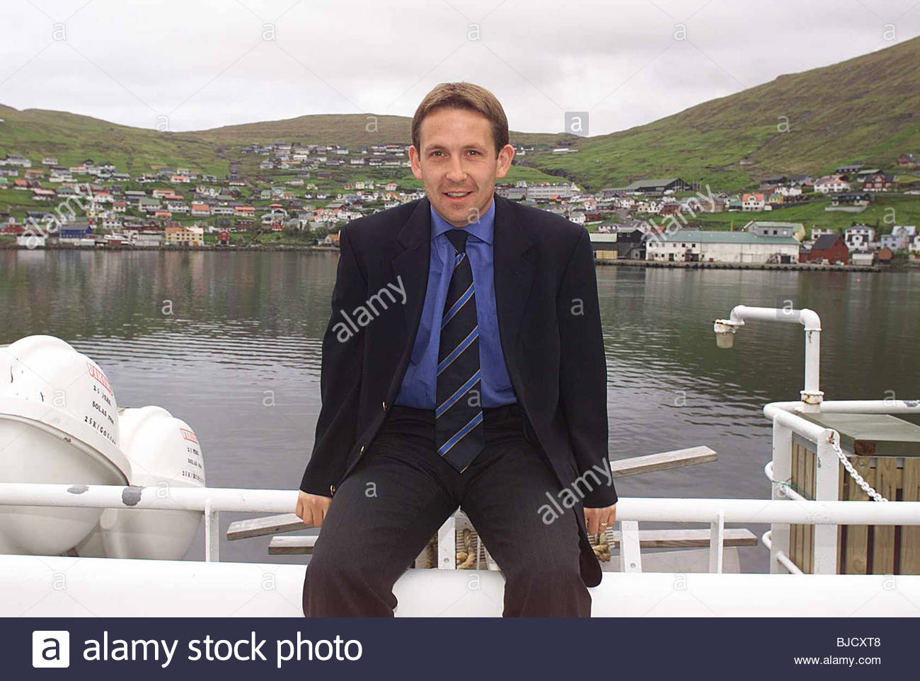 TORSHAVN - FAROE ISLANDS Scotland striker Billy Dodds looks ahead to his side's European Championship Qualifier - Stock Image