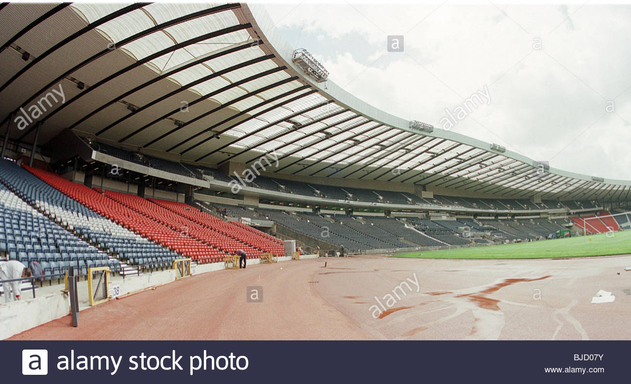 SEASON 1998/1999 HAMPDEN - GLASGOW The newly renovated South Stand. - Stock Image