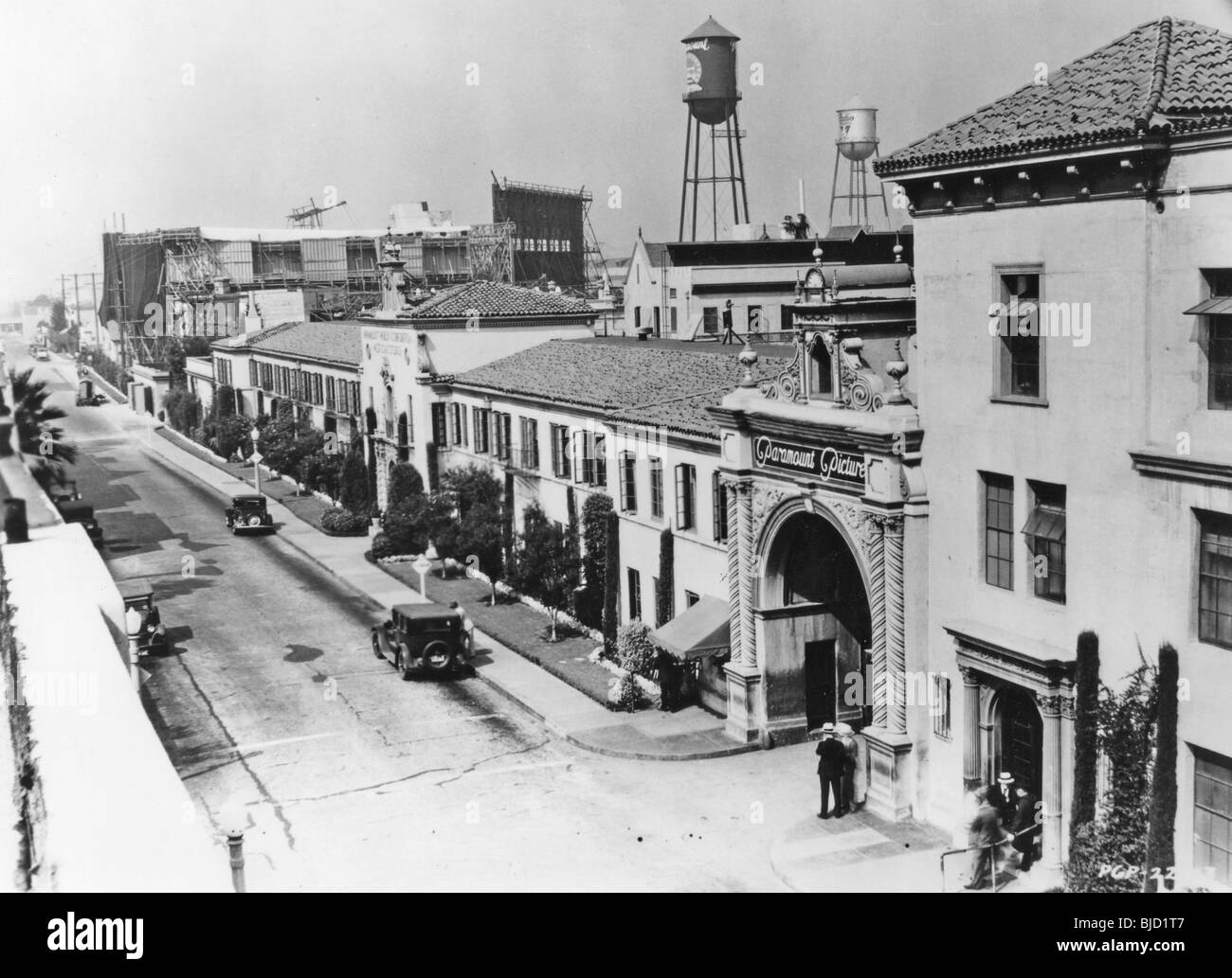 PARAMOUNT STUDIOS at 5451 Marathon in Hollywood in late 1920s - Stock Image