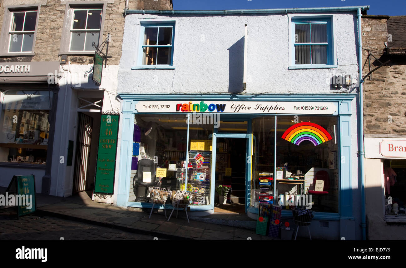 Rainbow Office Supplies Kendal Kendal UK   Stock Image