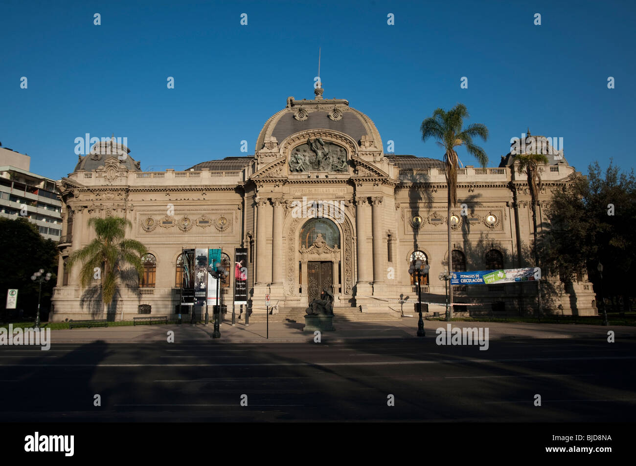 The National Museum of Fine Arts, located in Santiago, Chile - Stock Image