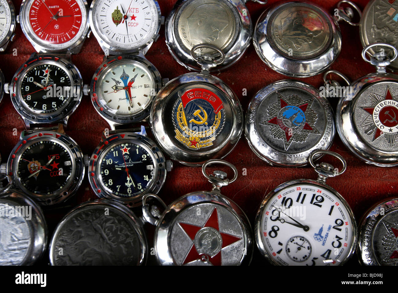 USSR watches - Stock Image