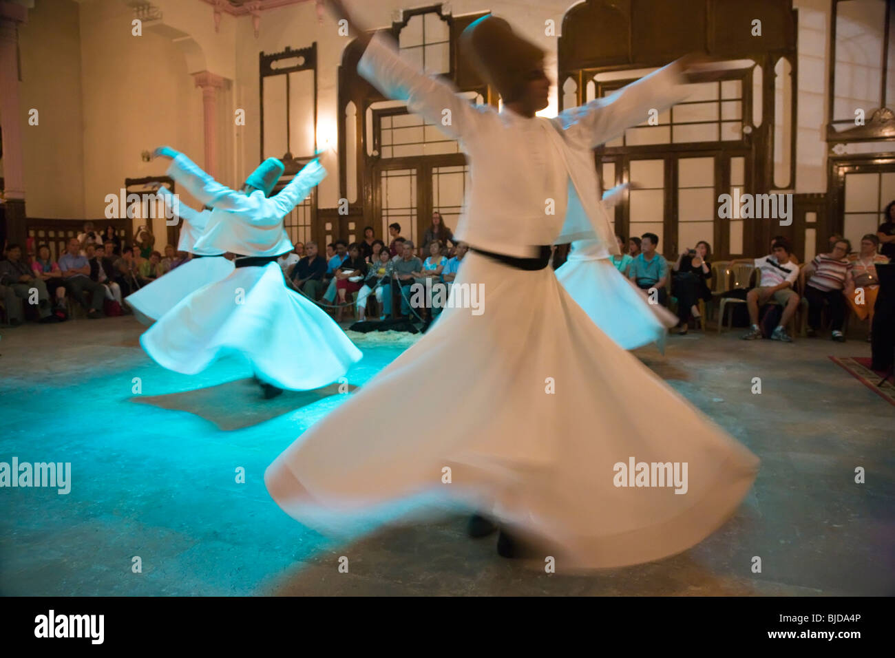 Whirling Dervishes, Istanbul, Turkey Stock Photo
