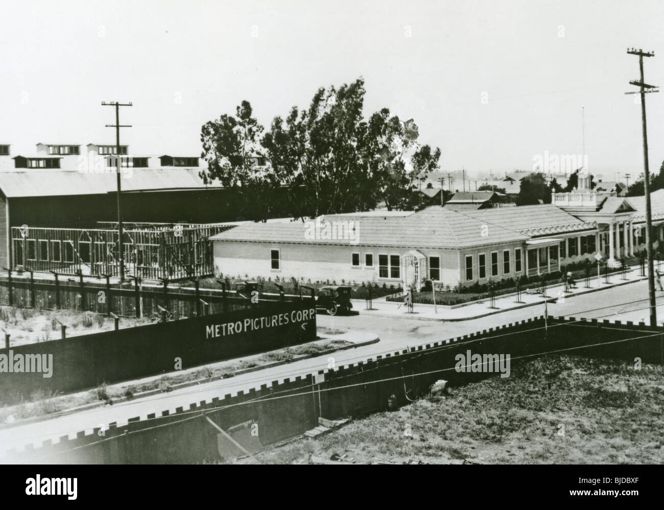 METRO STUDIOS at 6300 Romaine, Hollywood, about 1920 before Metro merged with Goldwyn and Mayer - Stock Image