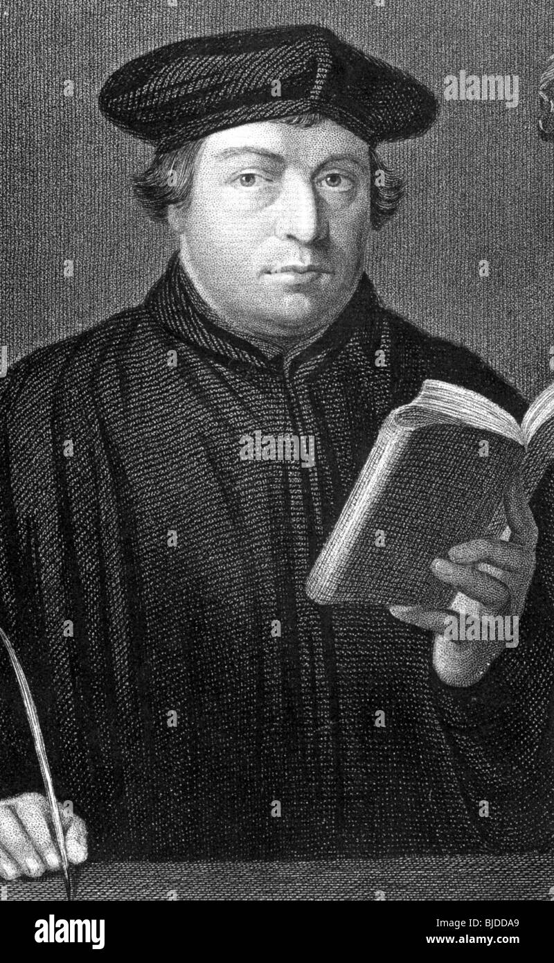 MARTIN LUTHER - German theologian and religious reformer (1483-1547) - Stock Image