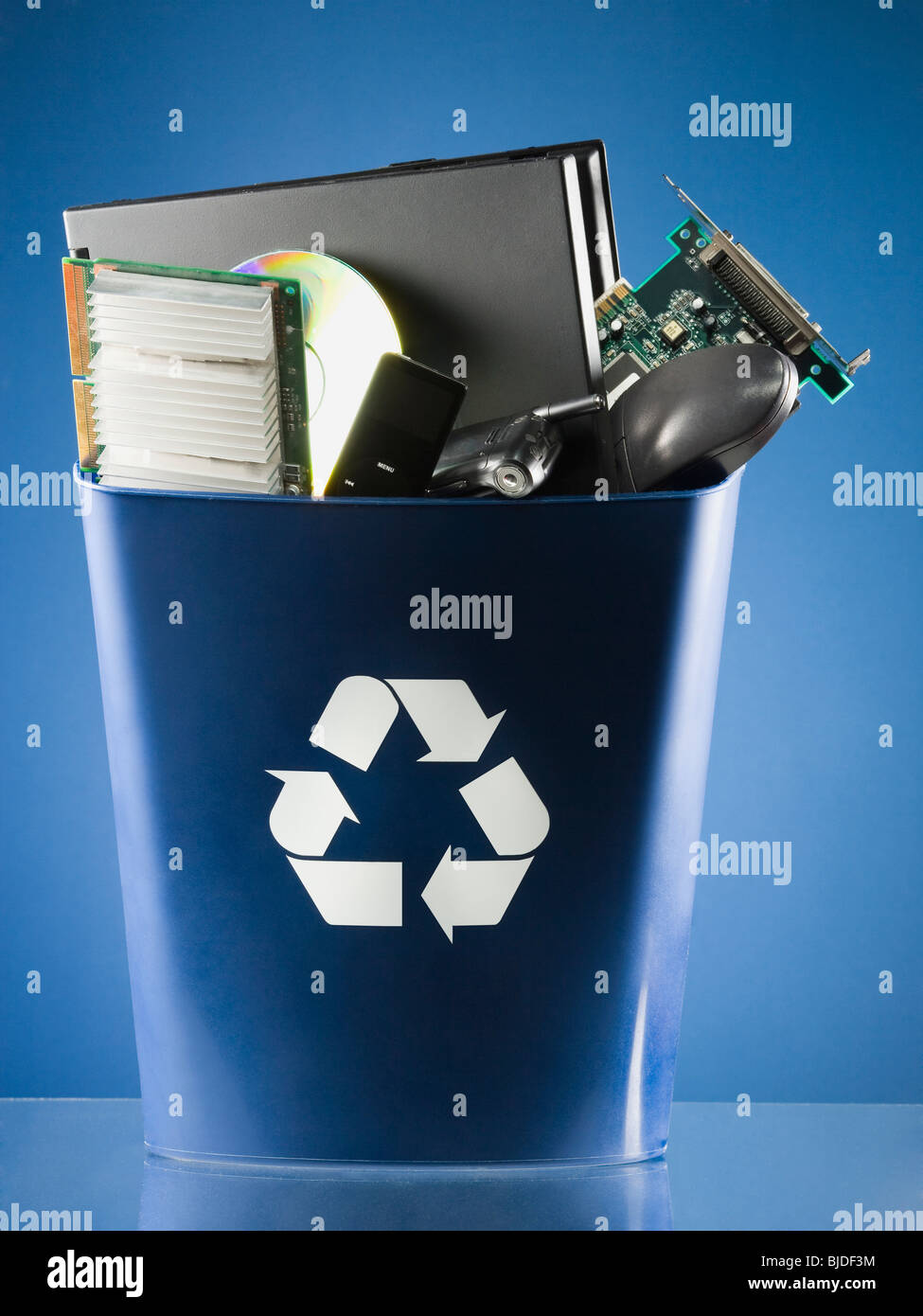 Recycling of computer parts. - Stock Image