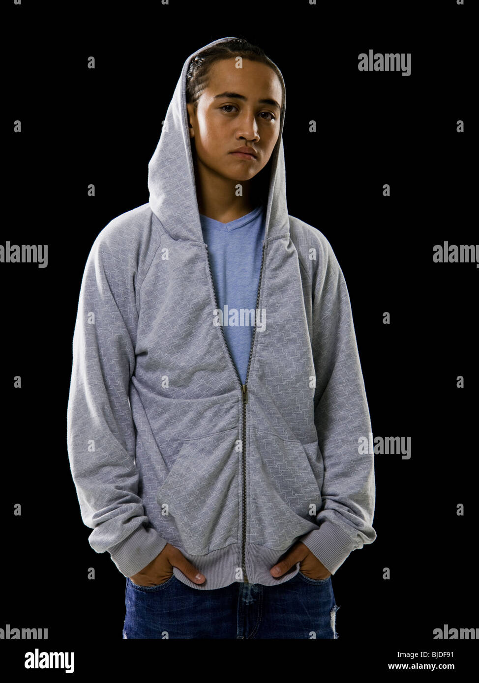 8018c2f0 Young man in a hoodie Stock Photo: 28571565 - Alamy