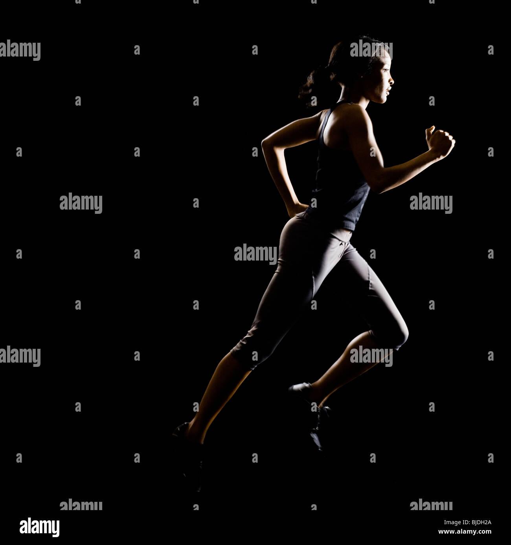 woman running - Stock Image